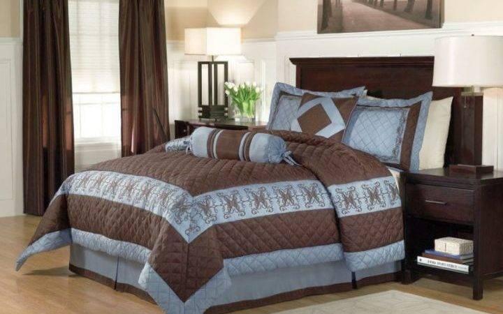 Brown Blue Bedroom Bedding