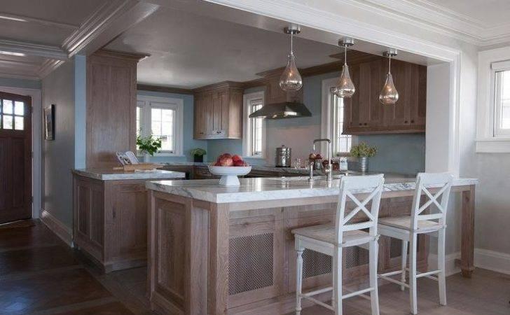 Brown Blue Kitchens Transitional Kitchen