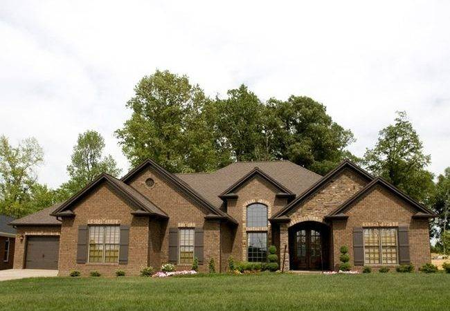 Brown Brick Houses House Colors Paneling Thin Color