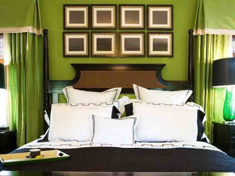 Brown Green Bedroom Walls Decorating Ideas