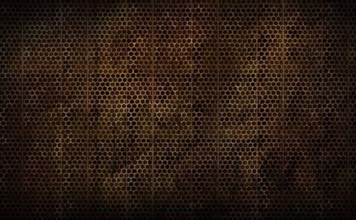 Brown Metallic Grid Pattern Abstract