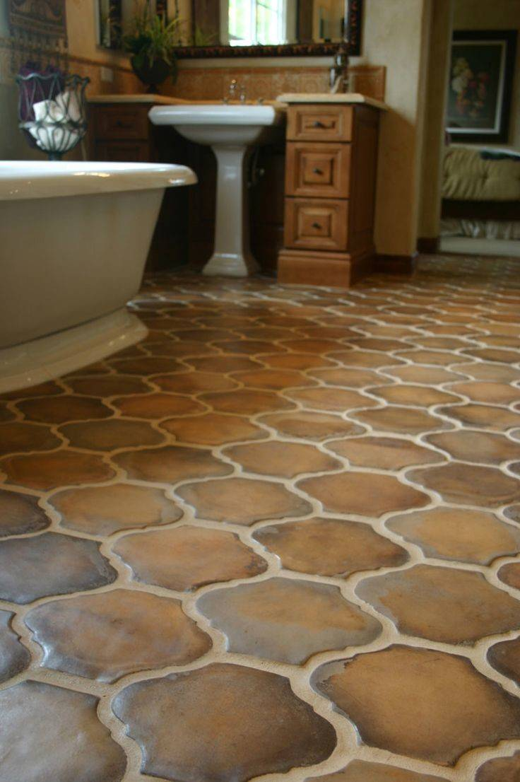 Brown Terracotta Floor Tiles Unique Shape Bathroom Tile Ccc