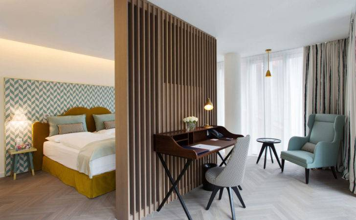Brown Wall Combined White Modern Small Hotel Design Plans
