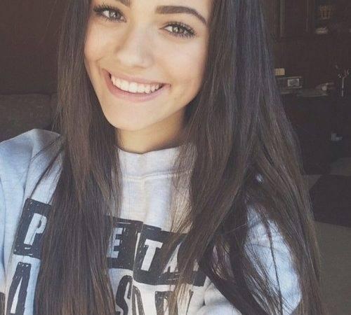 Brunette Cute Face Fashion Girl Hair Pretty
