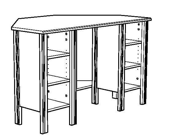 Brusali Bureau Angle Assembly Instruction