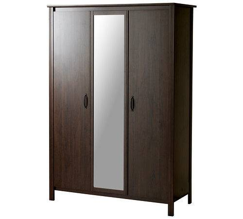 Brusali Wardrobe Doors Ikea Mirrored Door Saves Space