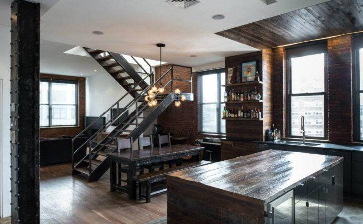 Brutal Industrial Masculine Penthouse New York Digsdigs