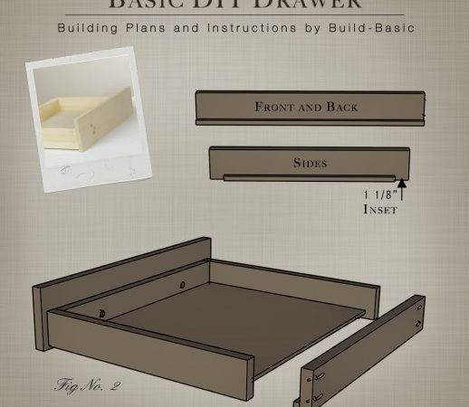 Build Basic Diy Drawer Building Plans Buildbasic