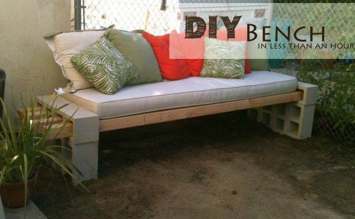 Build Furniture Comments Off Concrete Block Outdoor Bench