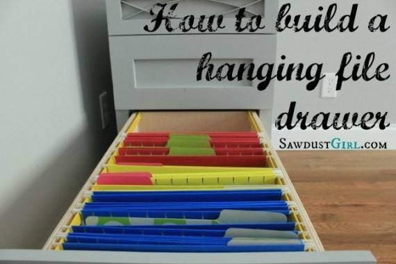 Build Hanging Drawer Sawdust Girl