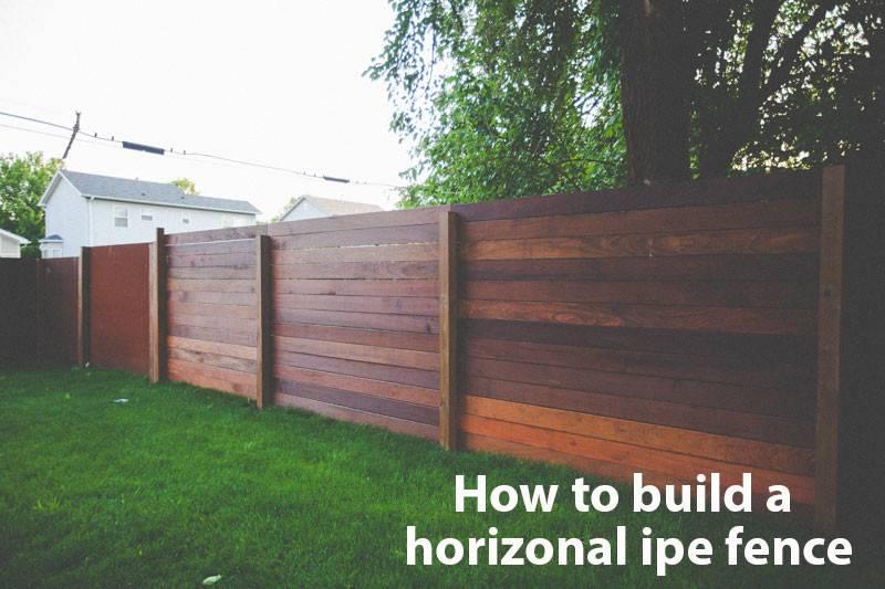 Build Horizontal Fence Diy Pinterest Wooden