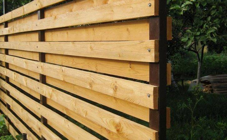 Build Horizontal Fence Your Own Hands Designs