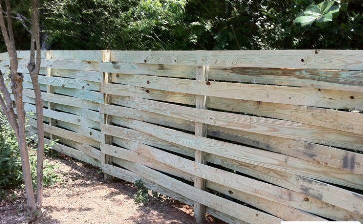Build Horizontal Wood Fence Ehorizontal