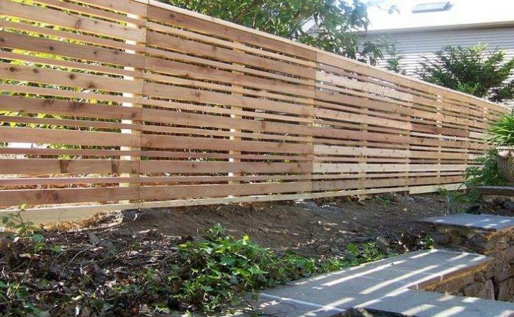 Build Horizontal Wood Fence Woodworking Projects Plans