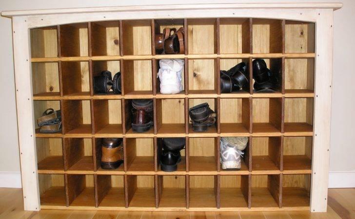 Build Shoe Storage Bench Homemade Rack