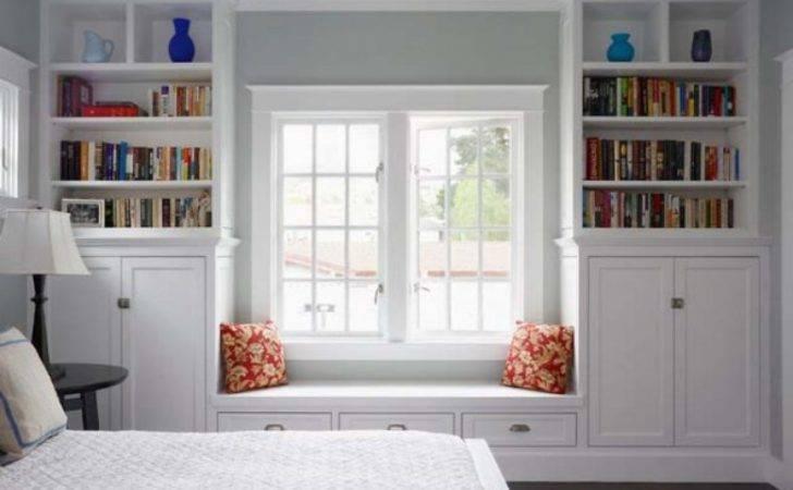 Build Window Seat Between Bookcases Home Pinterest