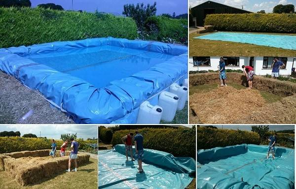 Build Your Own Swimming Pool Bales Hay Home Design Garden