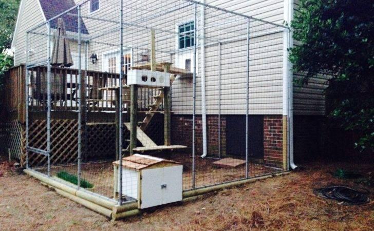 Building Plans Outdoor Cat Enclosure House Design Decorating