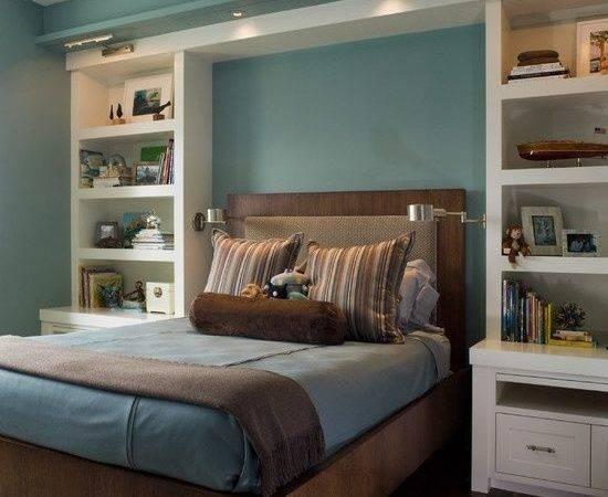 Built Bookshelves Nightstands Around Bed Decor Ideas Pinterest