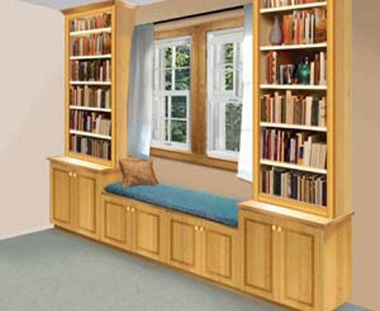 Built Windowseat Bookshelf Can Attractive Addition