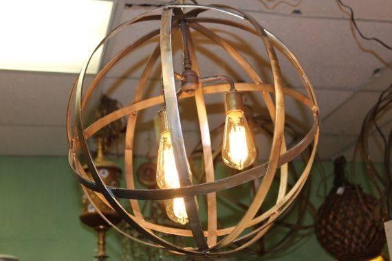 Bulbs Wine Barrel Orb Globe Chandelier Hanging Sphere Etsy