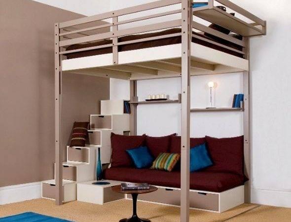 Bunk Bed Desk Girls Bedroom Loft