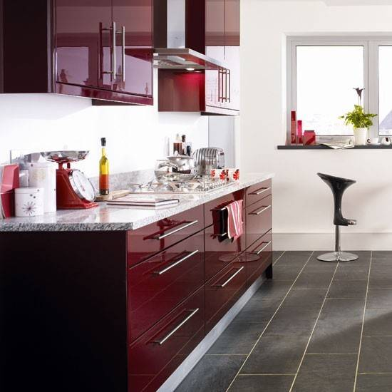 Burgundy Kitchen Colour Schemes Bright Kitchens