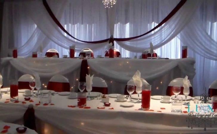Burgundy White Wedding Decor Luxe Weddings Events