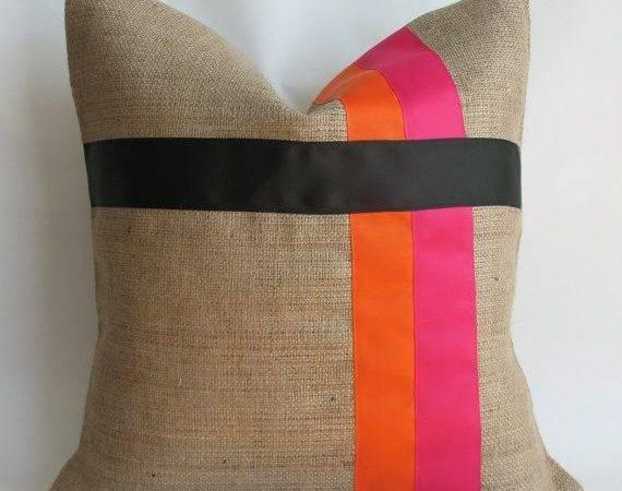 Burlap Pillow Cover Boys Contemporary Pillows Covers