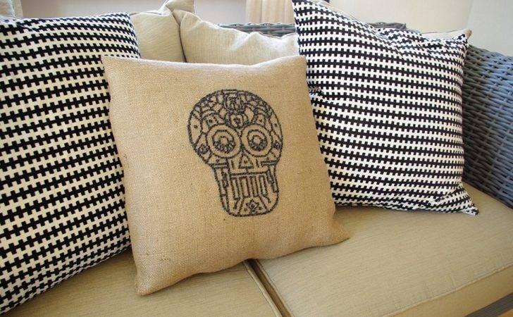 Burlap Pillow Covers Diy