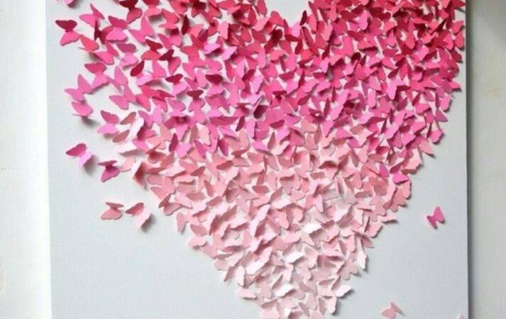 Butterfly Heart Paper Art Cutting Pinterest
