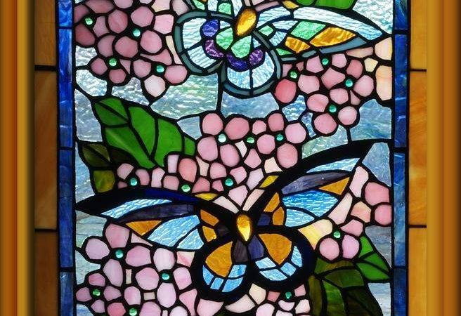 Butterfly Stained Glass Window Thomas Woolworth