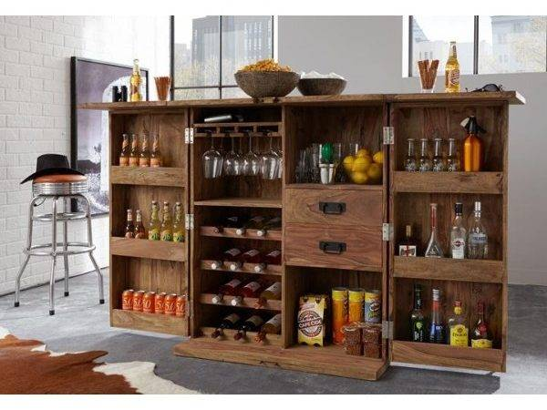 Buy Bar Cabinet India Wooden Wine Cabinets