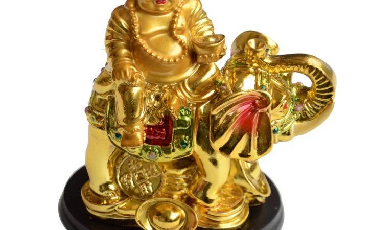 Buy Feng Shui Laughing Buddha Sitting Elephant India