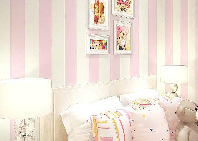 Buy Modern Romantic Striped Bedroom Girls Room