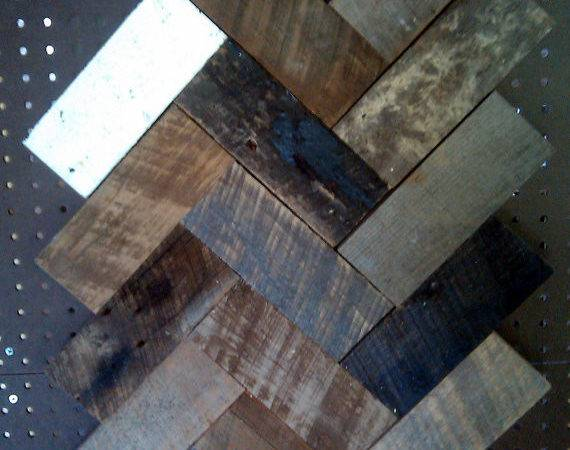 Byre Barn Wood Herringbone Wall Hanging Natural Stericdesign
