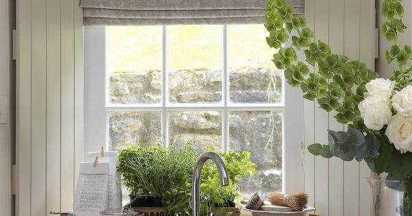 Cabbages Roses French Toile Aqua Kitchen Blinds Love