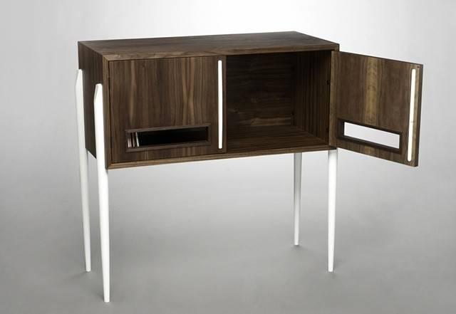 Cabinet Domenic Fiorello Studio Record Book Shelves Pinter