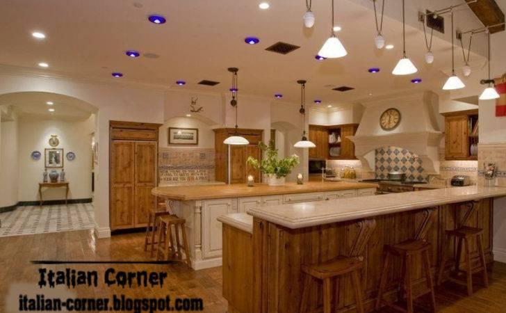 Cabinets Designs Brown Calm Italian Wooden Kitchen