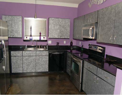 Cabinets Kitchen Purple Ideas