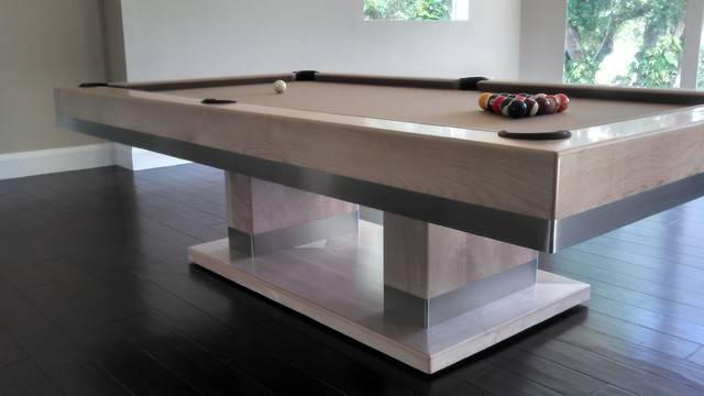 Cabo Pool Table Contemporary Home Bar Tampa Mitchell