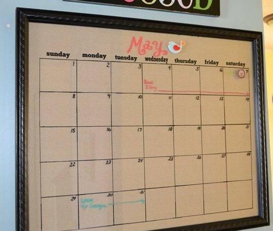 Calendar Board Diy Boards Chalk Dry Erase Bulletin Pinterest