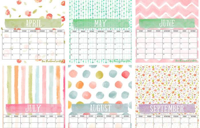 Calendar Diy Display Board Month Watercolor