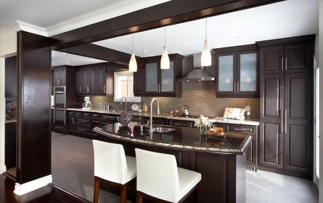 Calgary Transitional Kitchen Lux Interior Design