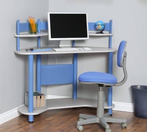 Calico Study Corner Desk Blue Hayneedle