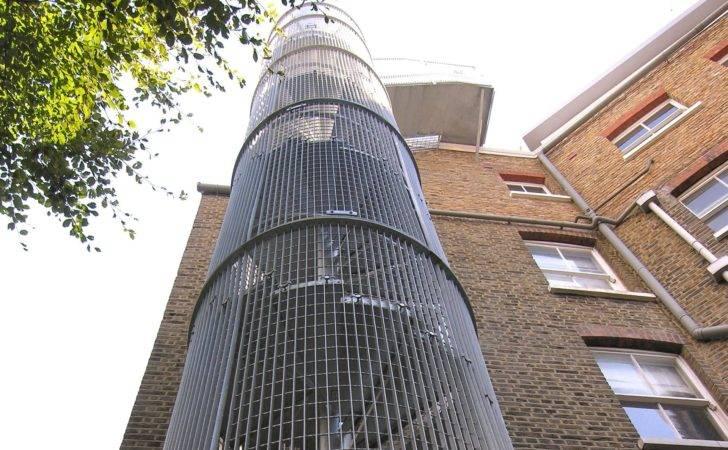Cambridge Mansions External Spiral Staircase Fire Escape