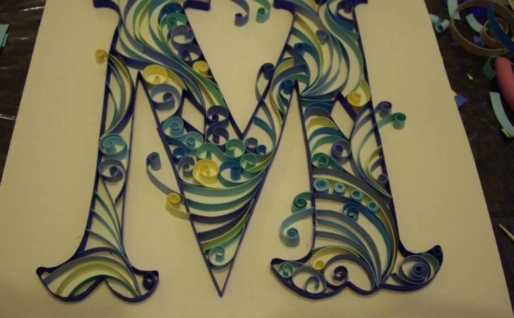 Can Crafty Curiosities Paper Quilled Monogram Letter