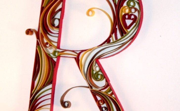 Can Crafty Curiosities Red Quilled Monogram