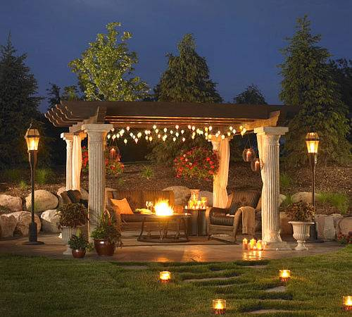 Can Hang String Lights Outdoor Chandelier Night