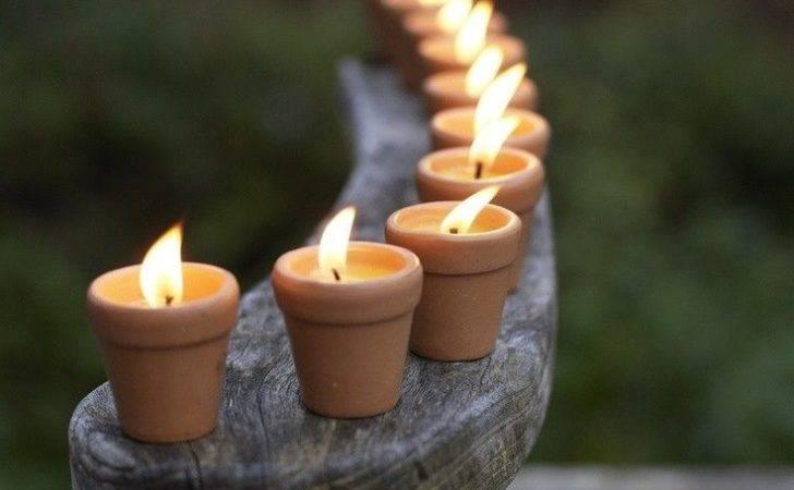 Candles Flower Pots Farm Garden Pinterest